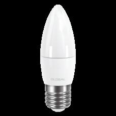 C37 LED 5Вт Е27 3000К (свеча) GLOBAL