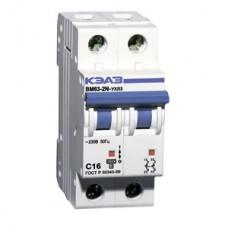 Автоматический выключатель двухполюсный КЭАЗ ВМ 63-2Х-С