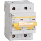 Автоматический выключатель ВА47-100 2P 100A 10кА IEK