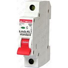 Модульный автоматический выключатель e.mcb.stand.45.1.C4, 1р, 4А, C, 4,5 кА  E.NEXT