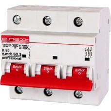 Модульный автоматический выключатель e.mcb.pro.60.3.K 80 new, 3р, 80А, K, 6кА E.Next