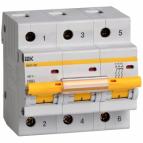 Автоматический выключатель ВА47-100 3P 63A 10кА  IEK