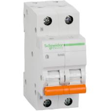 Автоматический выключатель двухполюсный  Schneider BA 63 1P+N 25А