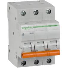 Автоматический выключатель трехполюсный  Schneider BA 63 3P 16А