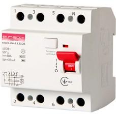 Выключатель дифференциального тока e.rccb.stand.4.63.30 4р, 63А, 30mA E.Next