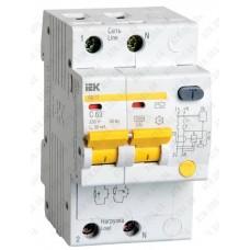 Дифференциальный автоматический выключатель АД-12 2P 32А / 30mA  IEK
