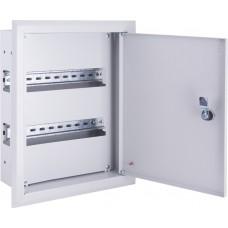 Корпус металлический e.mbox.pro.W.24z IP31 встраиваемый на 24 модуля с замком E.NEXT