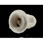 Электропатрон пластмассовый Е14 (с прижимным кольцом)