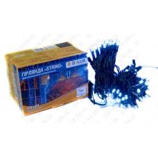 Гирлянда внешняя STRING 100 LED нить 10m (2x5m) 20 flash белый/черный IP44 DELUX