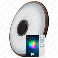 Светильник светодиодный Smart (круг с декор., с пультом, блютуз) 40w 3000-6500К IP20 Brixoll