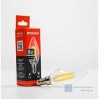 Лампа светодиодная LED (прозрачная) Filament C37 8W 4200K E27 ETRON