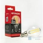 Лампа светодиодная LED (прозрачная) Filament G45 8W 4200K E14 ETRON