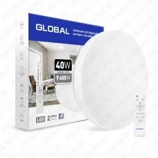 Светильник светодиодный 40W 3000-6500K (Smart, IP40) круг Global