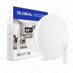 Светильник светодиодный 60W 3000-6500K (Smart, IP40) круг Global