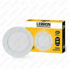 Светильник светодиодный встраиваемый LED L-PR-641, 6W, 4100K, 210лм, угол 120 ° LEBRON