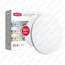 Светильник светодиодный 3-step 24W 3000-6500K круг MAXUS