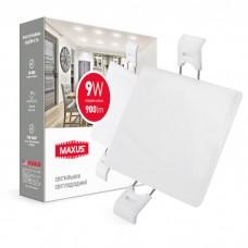 Светильник врезной MAXUS SP edge 9W, 4100К (квадрат)