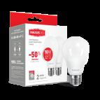 Лампа светодиодная A60 LED 10 Вт Е27 3000К (комплект -2 шт) MAXUS