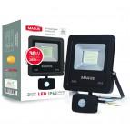 Прожектор светодиодный  MAXUS Flood Light 30W 5000K (с датчиком движения)