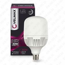 LED лампа Velmax V-A80, 30W, E27, 6500K