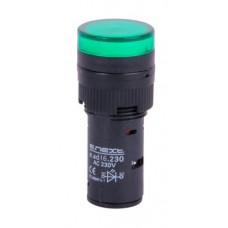 Светосигнальная арматура e.ad16.230.green Ø16мм 230В АС (зелёная) E.Next