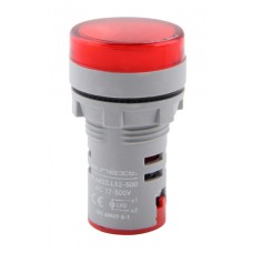 Арматура светосигнальная с индикатором напряжения e.ad22.i.12-500.red Ø22мм АС (красная) E.Next