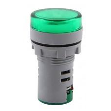Арматура светосигнальная с индикатором напряжения e.ad22.i.12-500.green Ø22мм АС (зелёная) E.Next