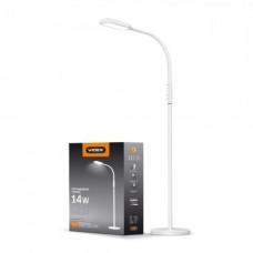 LED торшер напольный белый VIDEX VL-TF0702W 14W 3000-5500K 220V