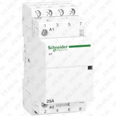 Модульный контактор iCT Acti9 25A 4Н.O 230V Schneider