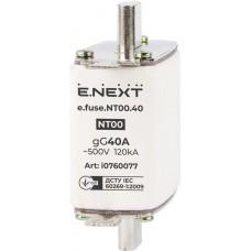 Предохранитель плавкий e.fuse.NT00.40, габарит 00, 40А E-Next