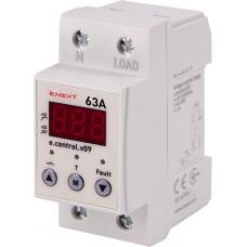 Реле контроля напряжения однофазное 63А c индикацией e.control.v09 E.NEXT