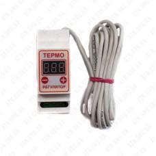 Терморегулятор цифровой ЦТР2-2ч (-55-130 С°) 10А  2-х порог.