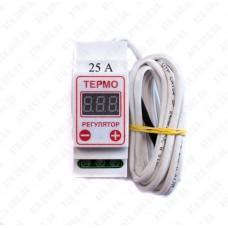 Терморегулятор цифровой ЦТРД5-2ч (-55-130 С°) 25А  2-х порог.