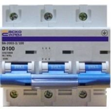 Автоматический выключатель трехполюсный УКРЕМ ВА-2003 3р АсКо