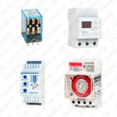 Реле (контроля напряжения, тока, температуры, времени, промежуточное,многофункциональное)