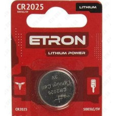 Батарейка CR2025-C5 3V (литиевая) ETRON