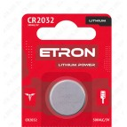 Батарейка CR2032-C5 3V (литиевая) ETRON