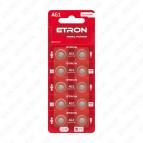 Батарейка AG1-C10/LR621 1.5V (щёлочная) ETRON