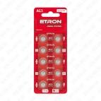 Батарейка AG3-C10/LR41 1.5V (щёлочная) ETRON