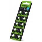 Батарейка часовая Videx AG 3 (LR41) blister card 10 pc 100 шт/уп (цена за 1шт))