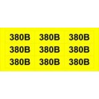 """Знак """"380В"""" желтый АСКО"""