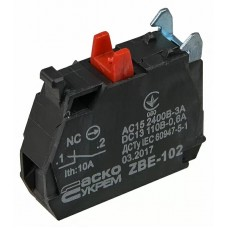 ZBE-101 N/C Контакт для кнопок TB5 Аско
