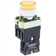 XB2-BW3571 Кнопка с подсветкой (жёлтая) Аско