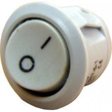 YL213-01 Переключатель 1-клавишный круглый серый, АСКО