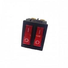 KCD8 Переключатель 2-клавишный (красный/красный с подсветкой), АСКО