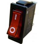 YL202-01 Переключатель 1-клавишный (красный с подсветкой), ТАКИР