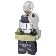 XB2-BG21 Кнопка поворотная с ключом, 2-х позиционная Аско