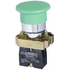 "XB2-BC31 Кнопка ""грибок"" (d 40 мм) ""Старт"" зеленый Аско"