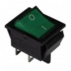 KED Переключатель 1-клавишный (зеленый с подсветкой), АСКО