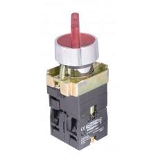XB2-BK2465 Кнопка поворотная 2-позиционная с подсветкой красная, АСКО-УКРЕМ
